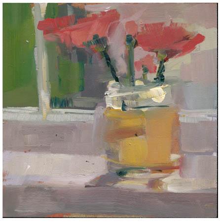 """#849 Yardment (pink flowers)"" original fine art by Lisa Daria"