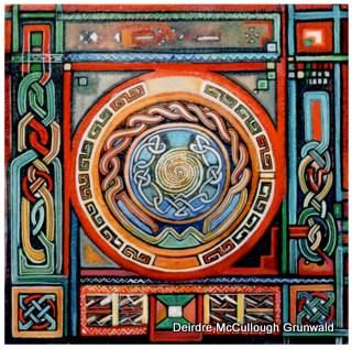 """Sun Mandala"" original fine art by Deirdre McCullough Grunwald"