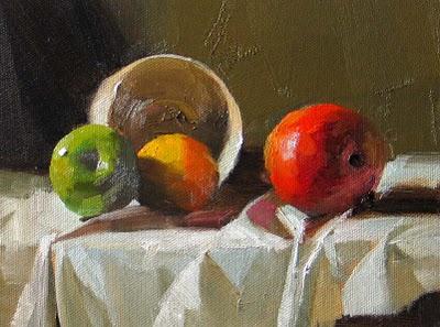"""Fruit Friends --- Sold"" original fine art by Qiang Huang"