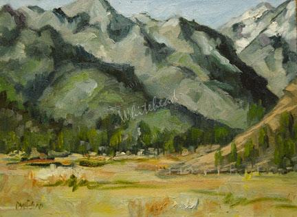 """LANDSCAPE WYOMING DAILY PAINTING ARTOUTWEST DIANE WHITEHEAD FINE ART"" original fine art by Diane Whitehead"
