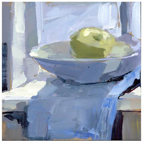 """The Very Hungry Bowl #778"" original fine art by Lisa Daria"