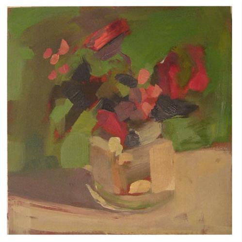 """#838 coy"" original fine art by Lisa Daria"