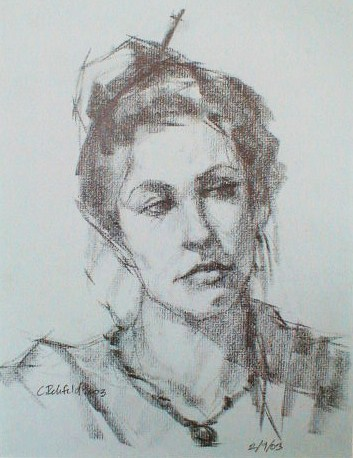 """Emily : Graphite on Toned Paper"" original fine art by Cathleen Rehfeld"