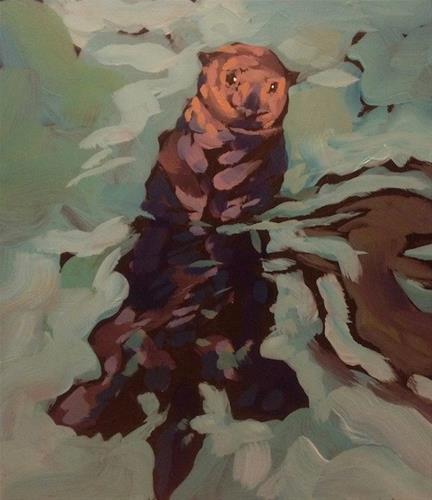 """Backstroke Alaskan Style"" original fine art by Kat Corrigan"