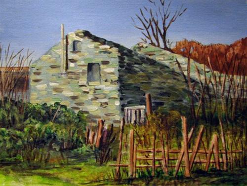 """""""Stone House"""" original fine art by Nan Johnson"""