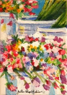 """""""Sweet, Sweet Peas"""" original fine art by JoAnne Perez Robinson"""
