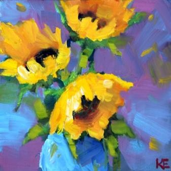 """Spontaneous Sunshine"" original fine art by Krista Eaton"