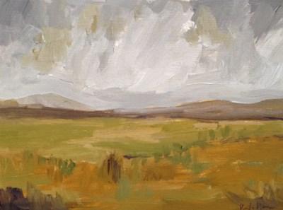"""""""Golden Landscape"""" original fine art by Pamela Munger"""