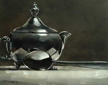 """Chrome Creamer with Spoon"" original fine art by Michael Naples"