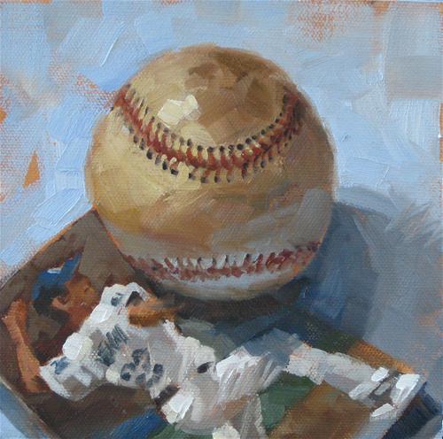 """""""Here's The Pitch"""" original fine art by Karen Werner"""