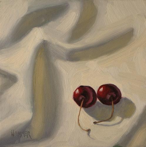 """Side by side 6x6 oil"" original fine art by Claudia Hammer"