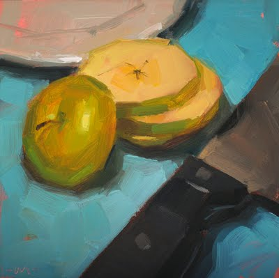 """Apple Strata"" original fine art by Carol Marine"