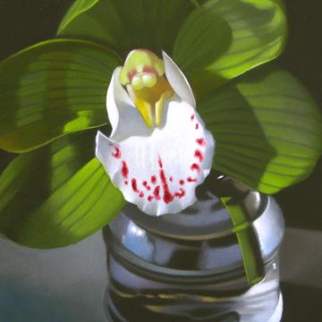 """Orchid 4x4"" original fine art by M Collier"