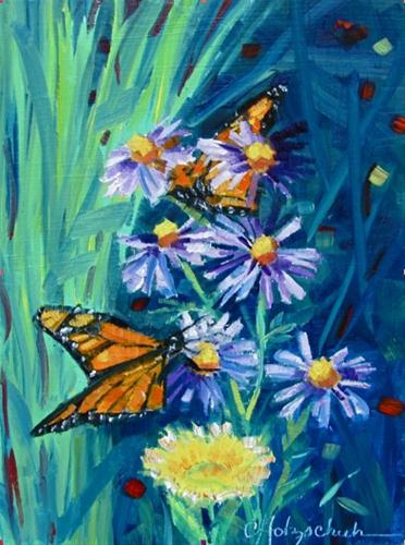 """Butterfly on the Move"" original fine art by Christine Holzschuh"
