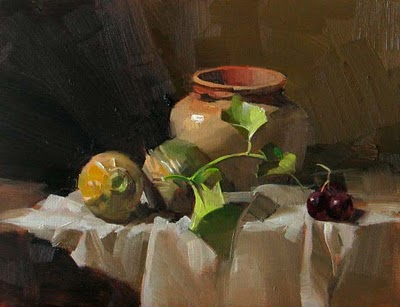 """Baby Cantaloupes --- Sold"" original fine art by Qiang Huang"