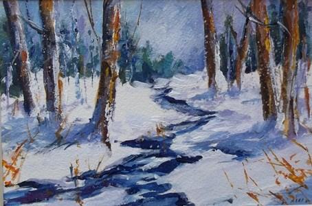 """Meandering"" original fine art by Alice Harpel"