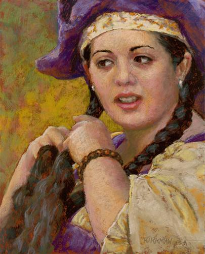 """Merilda Braiding"" original fine art by Rita Kirkman"
