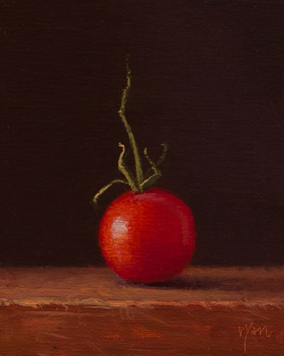 """Arizona Tomato with Stem  (+ a must-see place called Ajo)"" original fine art by Abbey Ryan"