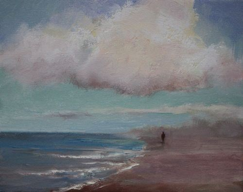 """""""Solitary Walk, Seascape Paintings by Arizona Artist Amy Whitehouse"""" original fine art by Amy Whitehouse"""