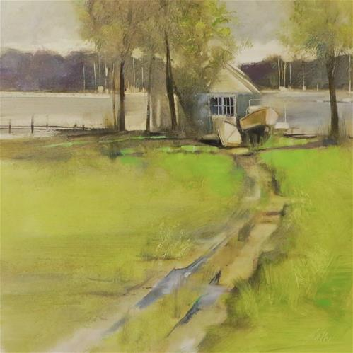 """Waiting to Sail"" original fine art by Beth Bathe"
