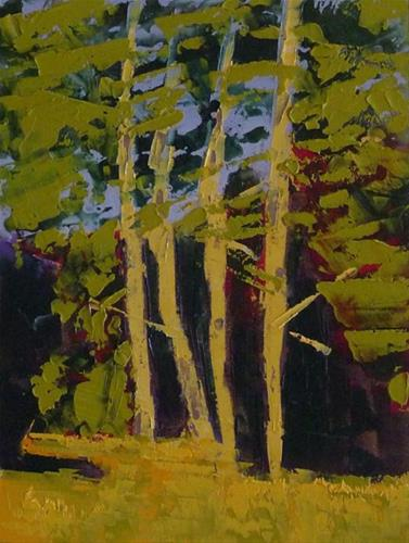 """Trees in Canada"" original fine art by Linda Popple"