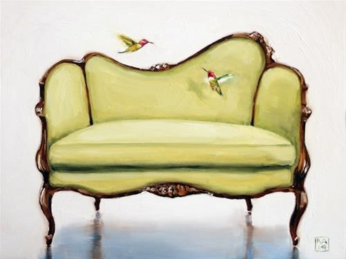 """hum with me"" original fine art by Kimberly Applegate"