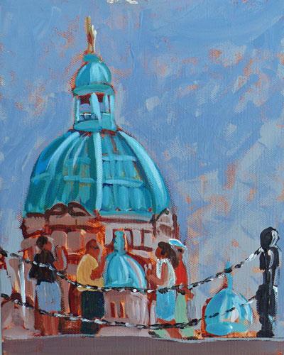 """Parliament"" original fine art by Darlene Young"