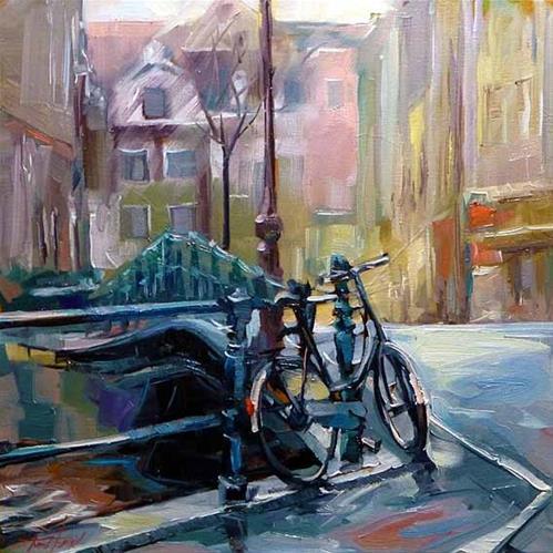 """""""Strassen von Amsterdam"""" original fine art by Jurij Frey"""