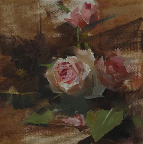 """""Rose Impression"" original fine art by Qiang Huang"