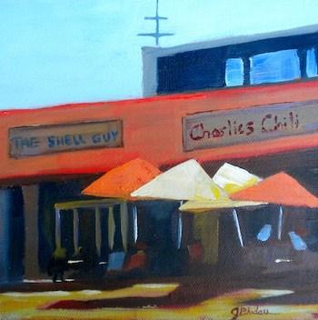 """Charlie's Chili"" original fine art by Janet Bludau"