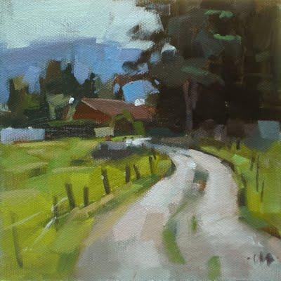 """Country Road"" original fine art by Carol Marine"