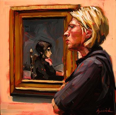 """Side Glances"" original fine art by Karin Jurick"