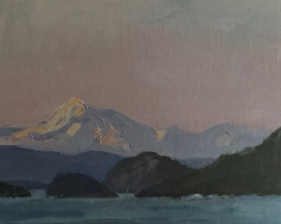 """Mt Baker Sunset"" original fine art by Susan Hammer"