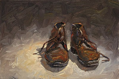 """""""Just some old shoes"""" original fine art by Raymond Logan"""