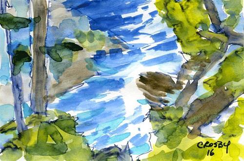"""Stream Reflections"" original fine art by Donna Crosby"