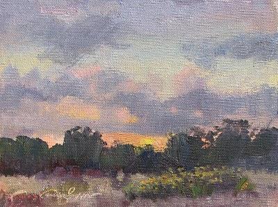 """Art School Sunrise"" original fine art by V.... Vaughan"