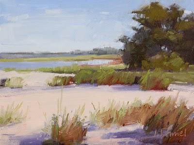 """Ocean Beach (study)"" original fine art by Laurel Daniel"