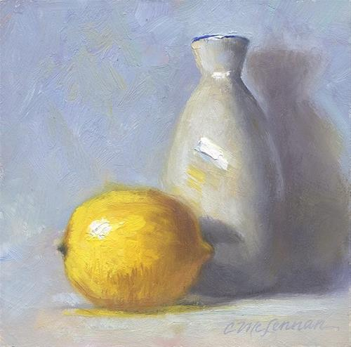 """Lemon Series No. 1"" original fine art by Connie McLennan"