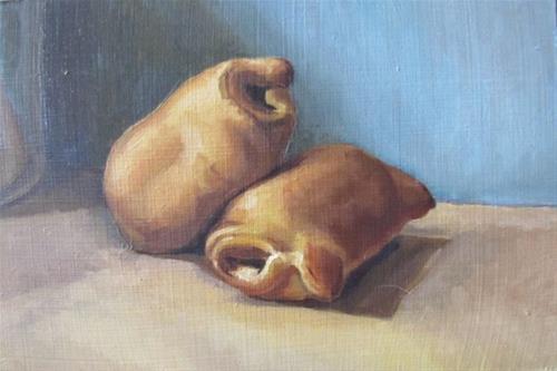 """""""47 - Bagel Dogs"""" original fine art by Edward Watson"""