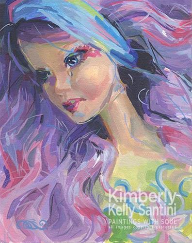 """Even Fairies Cry"" original fine art by Kimberly Santini"