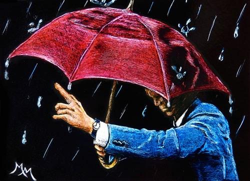 """SA111 - Rainy Days"" original fine art by Monique Morin Matson"