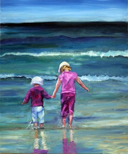 """Sisters"" original fine art by Kristen Dukat"