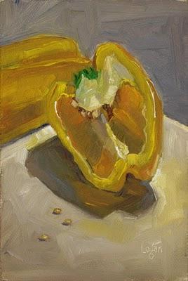 """Yellow Pepper"" original fine art by Raymond Logan"