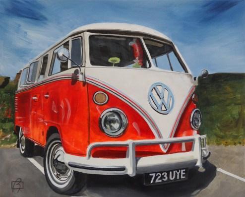 """""""VW Bus"""" original fine art by Andre Beaulieu"""