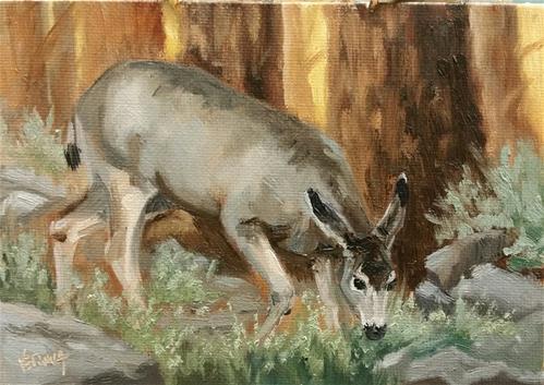 """Mulie Study 2"" original fine art by Veronica Brown"