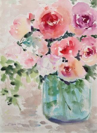 """""""Winter Blooming too"""" original fine art by Lisa Fu"""
