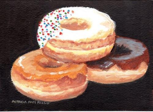 """Donut?"" original fine art by Patricia Ann Rizzo"
