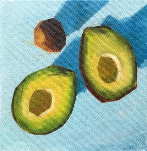 """Ready to Eat"" original fine art by Sharon Schock"
