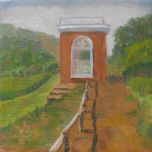 """Tom's Garden Shed"" original fine art by Kathy Johnson"