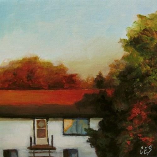 """""""Across the Street"""" original fine art by ~ces~ Christine E. S. Code"""